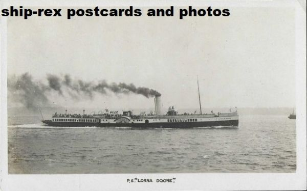 LORNA DOONE (1891, Red Funnel) postcard (b)